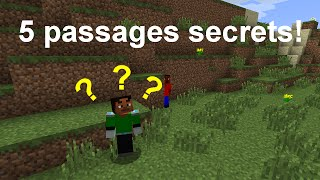 [FR] Tutoriel Minecraft: Cinq façons de faire un passage secret (1.8)