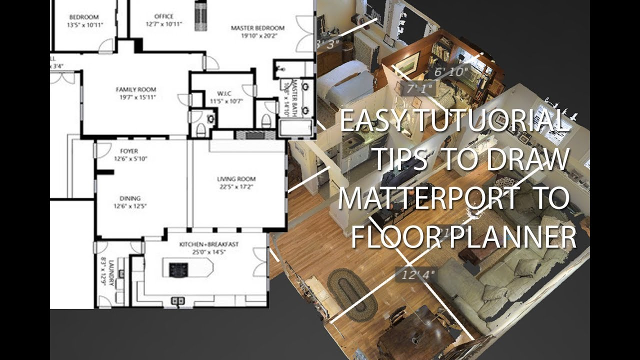 Tutorial Floor Planner Matterport