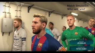 fc barcelona vs real madrid live commentary pes 2017 simulation