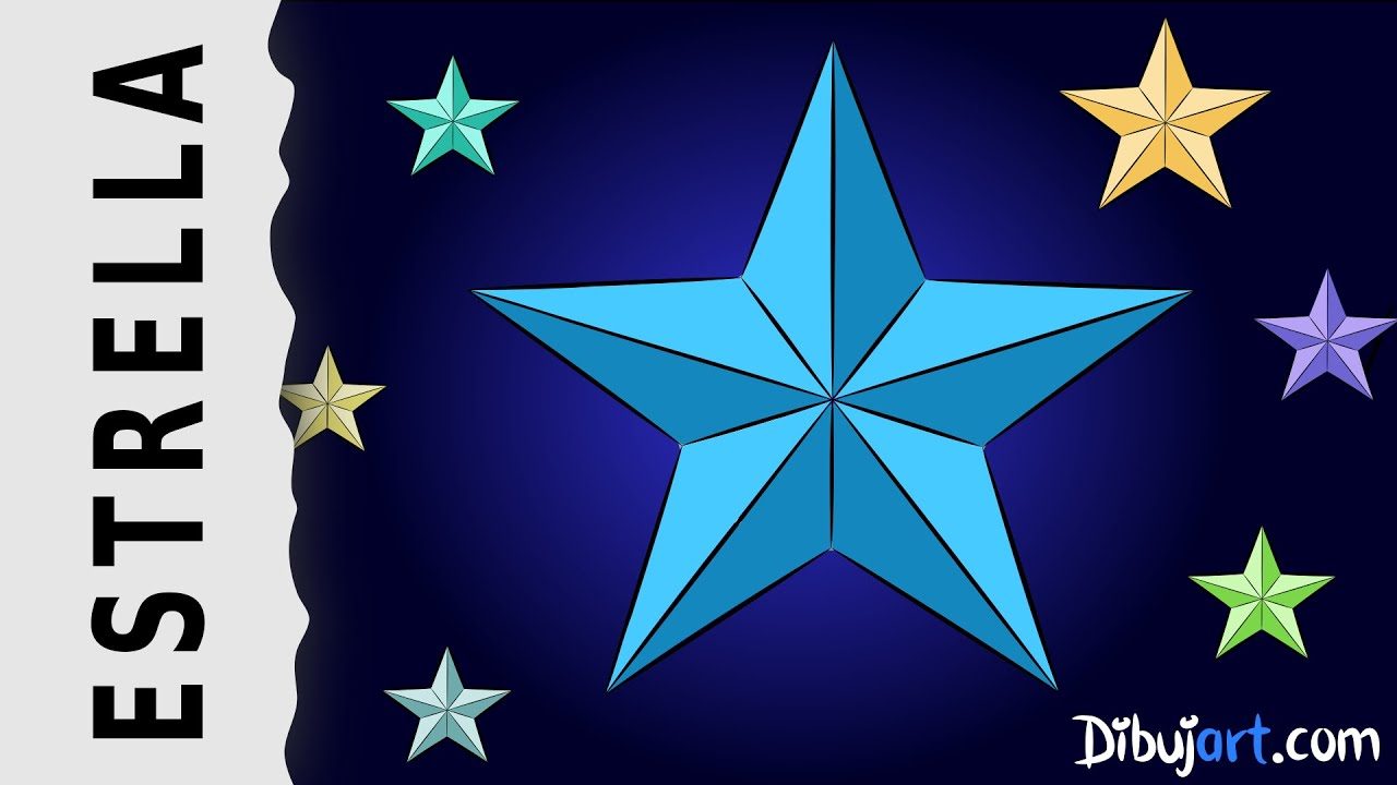 Cmo dibujar una Estrella de 5 puntas Dibujo divertido paso a