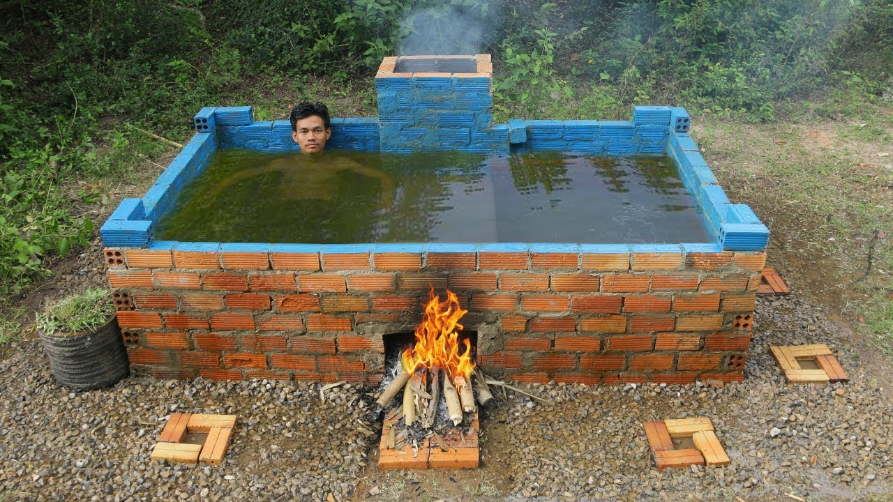 Jacuzzi Pool Youtube Build Heated Pool For Swimming Youtube