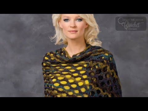 Crochet Shawl Patterns Youtube : How to Crochet A Shawl: Open Wave - YouTube