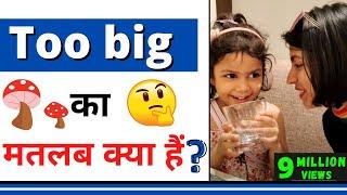 "Too Big का मतलब | ""Too Big"" meaning in hindi | Kanchan's English #Shorts"