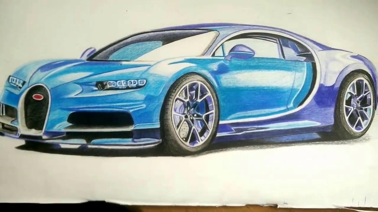How To Draw A Bugatti Chiron >> Bugatti Chiron 2017 Drawing - YouTube