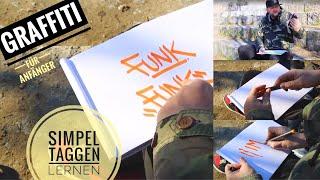 Graffiti für Anfänger - Simpel Taggen lernen - Graffiti Coach