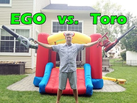 Thumbnail: EGO vs. Toro Blower - Bounce Castle Challenge!!