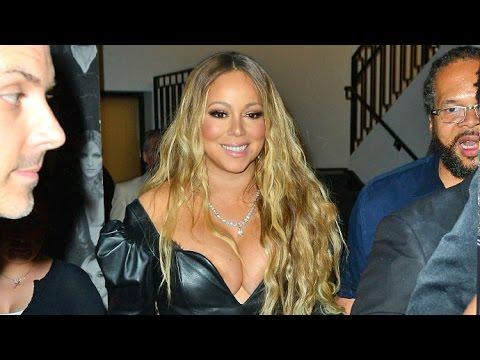Mariah Carey Suffers Embarrassing Nip-Slip In Plunging Leather Top At Catch LA