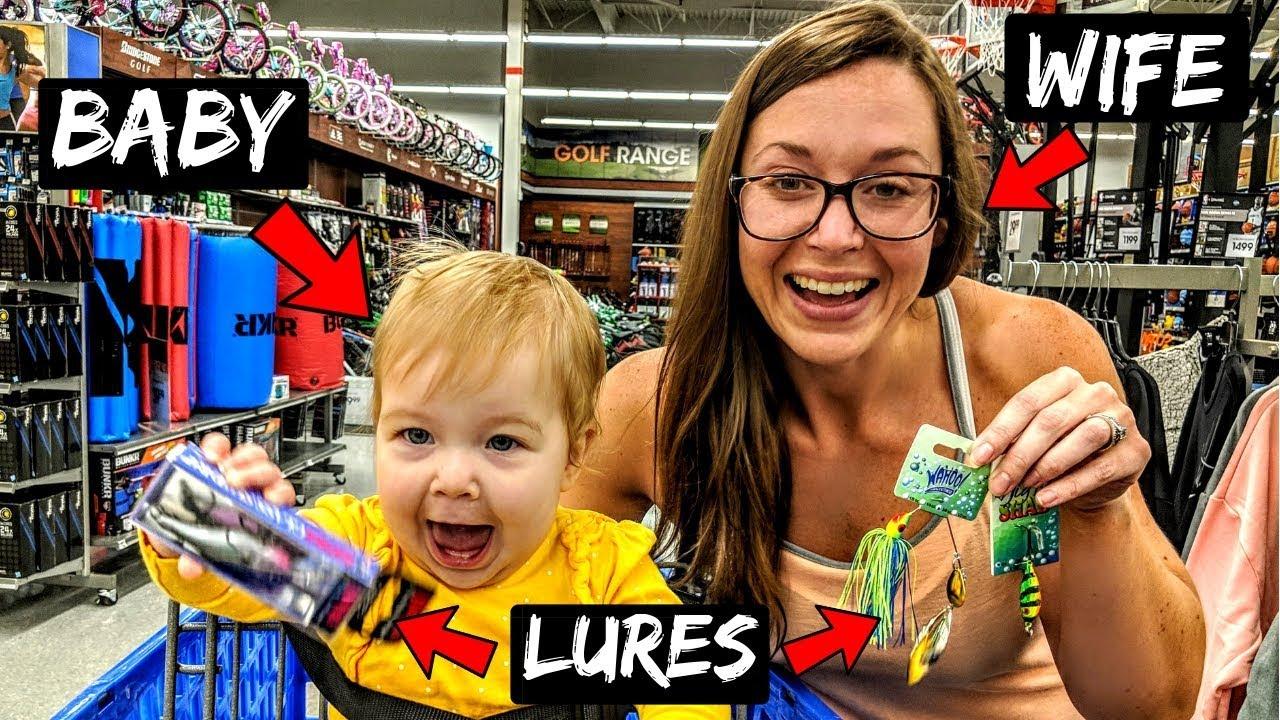 Wife Baby Pick My Fishing Lures Challenge Youtube