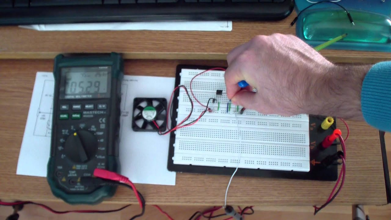 Dc Fan Wiring Electrical Diagram Foxconn 12v Wire Temperature Controlled Youtube Brushless