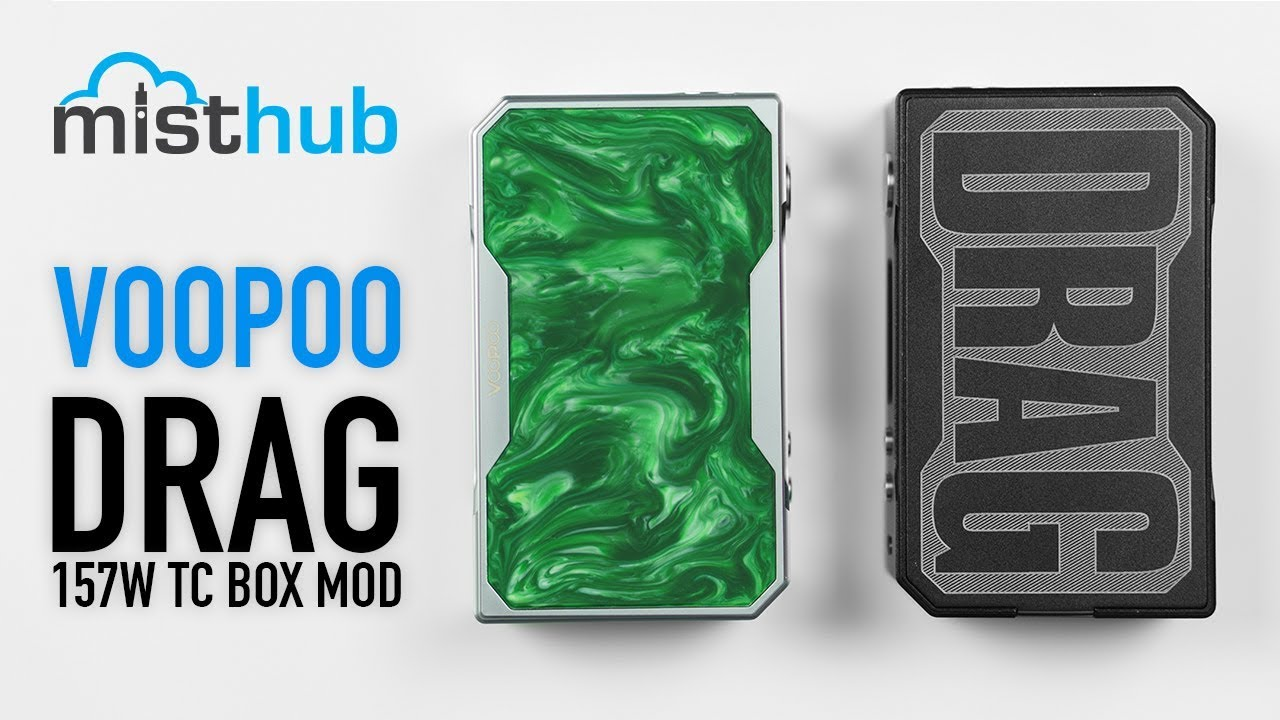 the voopoo drag 157w tc box mod unboxing and quick product overview [ 1280 x 720 Pixel ]