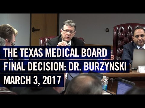 March, 2017: Final Decision, Texas vs. Dr. Burzynski