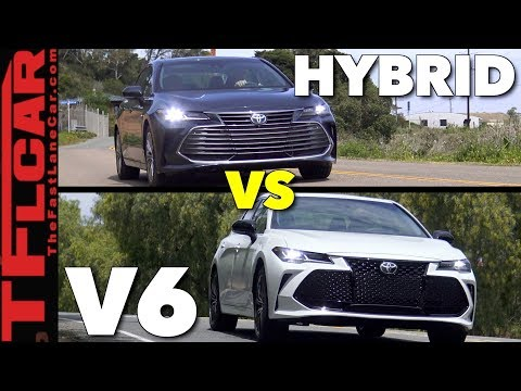 Which is Better? 2019 Toyota Avalon Hybrid or V6 First Drive Review