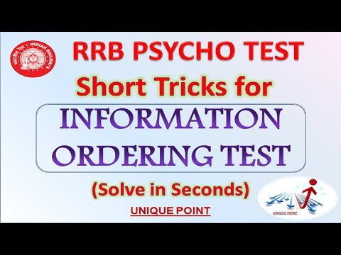 INFORMATION ORDERING TEST | Short Tricks to Solve Information Ordering Questions