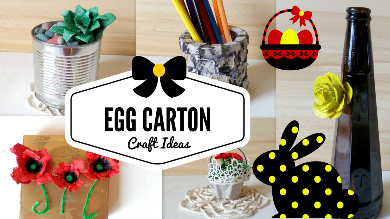 Scrapbook ideas recycled - Diy Five Egg Carton Crafts Ideas Hacks Easter Recycling Project By Fluffy Hedgehog Youtube