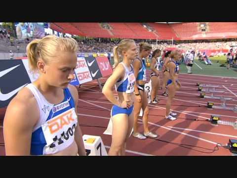 100m Finale Deutsche Meisterschaften Nürnberg 2008