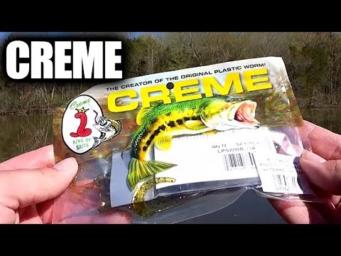 Creme Creature Baits For $1.25 - Cheap Walmart Bass Fishing Lures