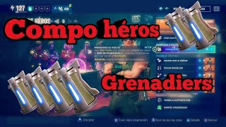 Compo of heroes Grenadiers [Fortnite save the world]