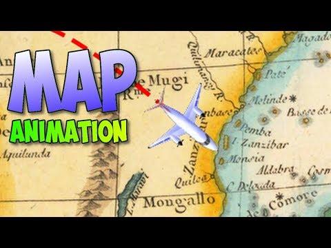 Travel map animation tutorial in Davinci Resolve 14 (Indiana Jones style)