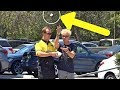 LITTERING IN FRONT OF SECURITY GUARD!!! (Best Trick Ever!)