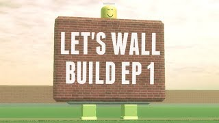 Let's Wall Build #1 | Traditional Home Wall | Roblox