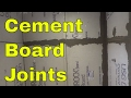 Taping Cement Board Joints-Step By Step Tutorial