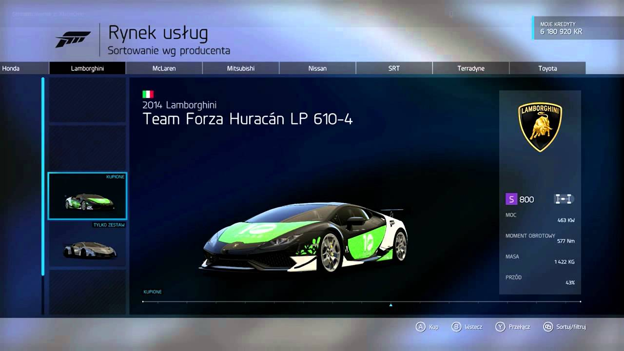 Forza Motorsport 6 - 10 Year Car Pack DLC (10 Cars)