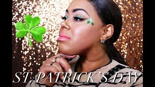 """Makeup Tutorial on """"How to achieve the St. Patrick's Day look"""" with the Morphe palette"""