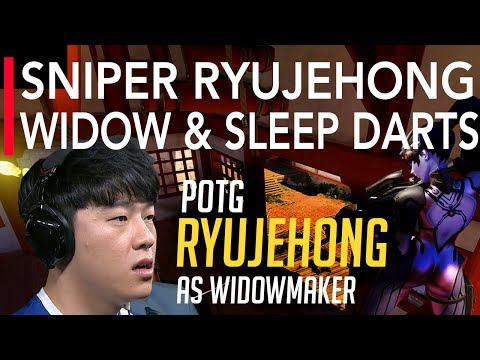 Overwatch | Best Plays Of The Game - Sniper Ryujehong Widowmaker & Ana Sleep Darts | OGN APEX S3