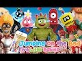 YO GABBA GABBA Super Heroes Five Little Babies JUMPING ON THE BED ♥Toy Nursery Rhyme♥ Download Mp4