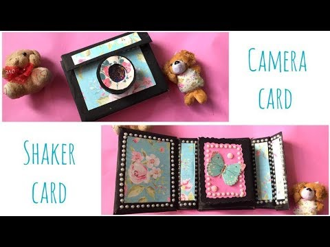 Unique instax card Camera card shaker card