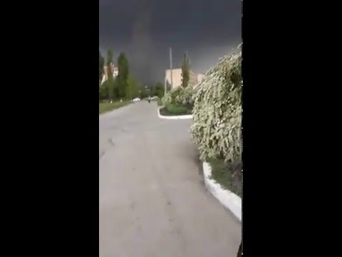 Смерч в Кировограде(п.Новый)