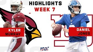 Kyler Murray vs. Daniel Jones Highlights | NFL 2019