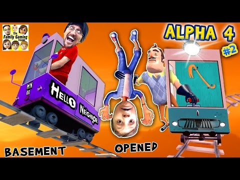 HELLO NEIGHBOR ALPHA 4: CHOO CHOO TRAINS & BOO BOO THANGS FGTEEV Pt 2 Basement Marts Tips & Tricks