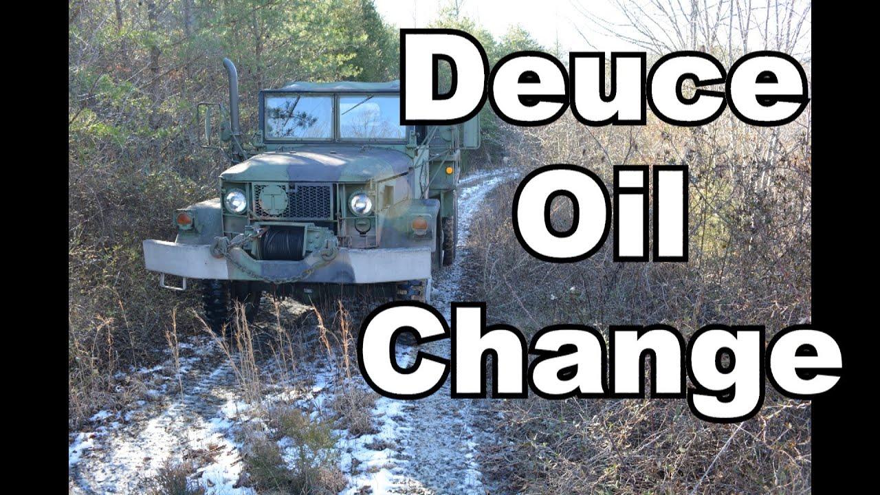 M35A2 Deuce and a half engine oil change