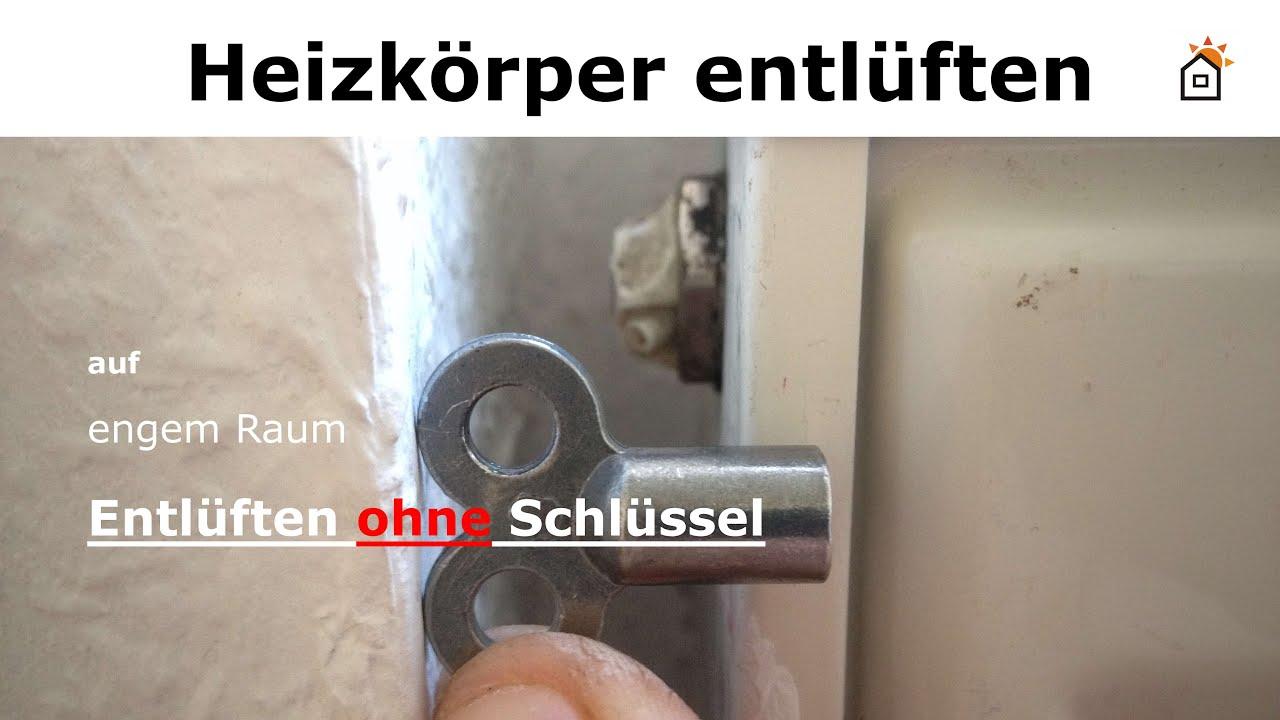 Entlüften Der Heizkörper heizkörper entlüften ohne schlüssel - youtube