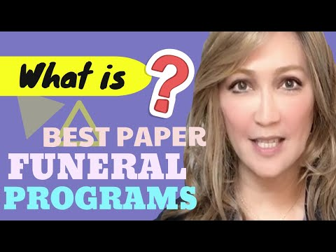 What Type Of Paper Is Best To Use For Funeral Programs
