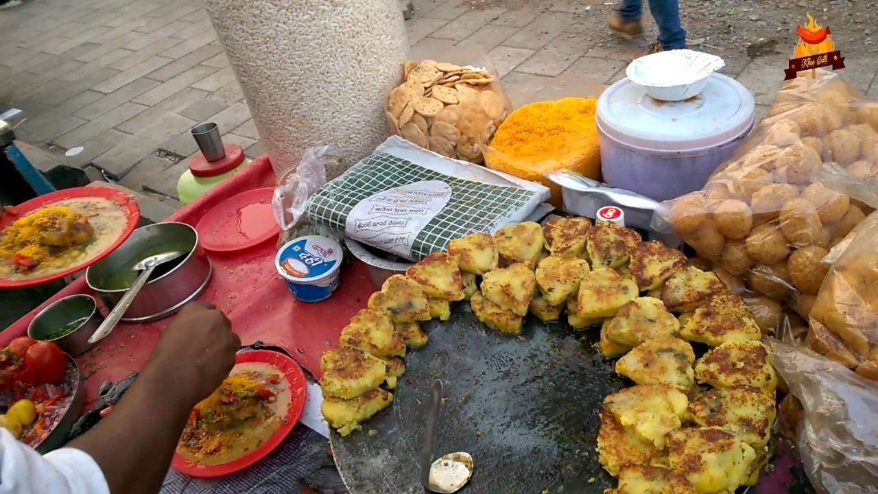 Indian Street Food 2017 - Ragda Patties | New Mumbai Street Food 2017 | The  Food Ranger | Khau Galli