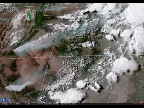 GOES-16 Observes Western Wildfires
