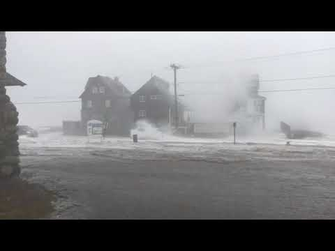 Brant Rock, Marshfield - High tide, March 2, 2018