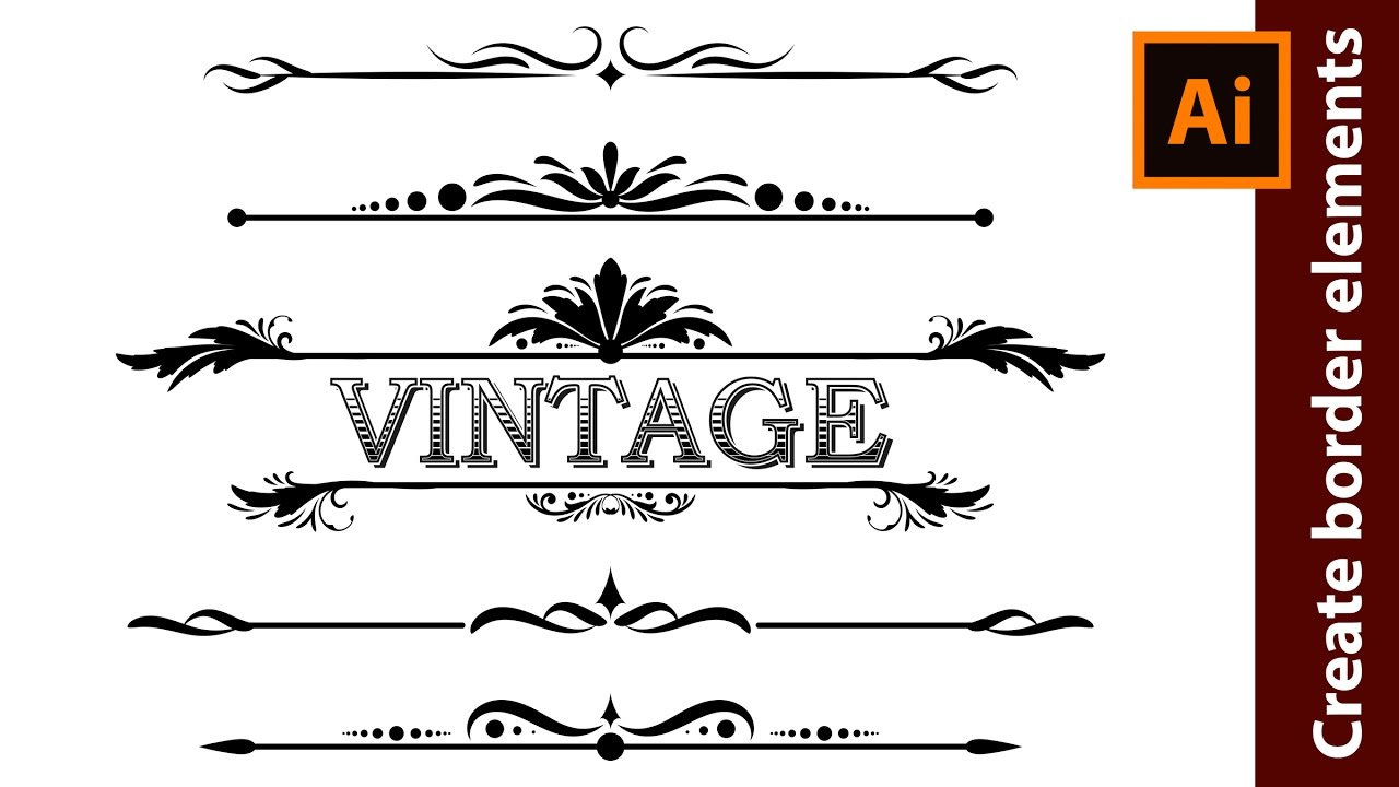 how to design vintage border elements in adobe illustrator youtube