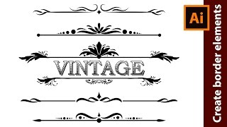 How to Design Vintage Border Elements in Adobe Illustrator