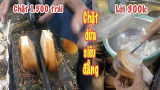 Nữ cao thủ chặt 1.500 trái dừa nước ngày nhờ cây đao đặc biệt