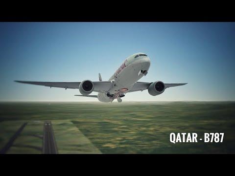 Infinite Flight Boeing B787 Qatar Airways WMKK - WSSS