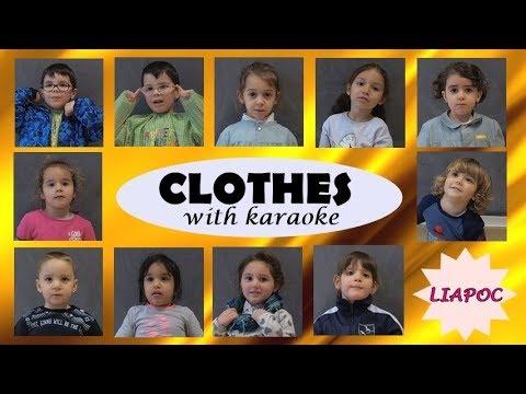 Canción De Ropa En Ingles Para Niños Liapoc Youtube