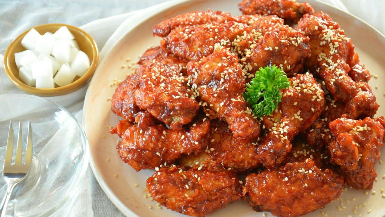 ไก่บอนชอน ไก่ทอดซอสเกาหลี กรอบนอกนุ่มใน ซอสเข้มข้นลงตัว อร่อยไม่แพ้ร้านดังเลยจ้า เมนูแนะนำ!!