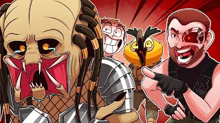 Showing MR. SARK & VANOSS how to hurt the Predator's feelings while using the ARNOLD VOICE!