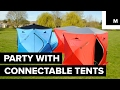 Turn your campsite into a party with these connectable tents
