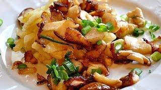 Рецепт,  картошечка  с грибами и яйца по деревенски.