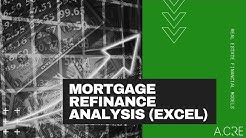 Refinance Analysis Tool in Excel