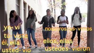 spanish song preterite irregular verbs for ser ir hacer ver and dar